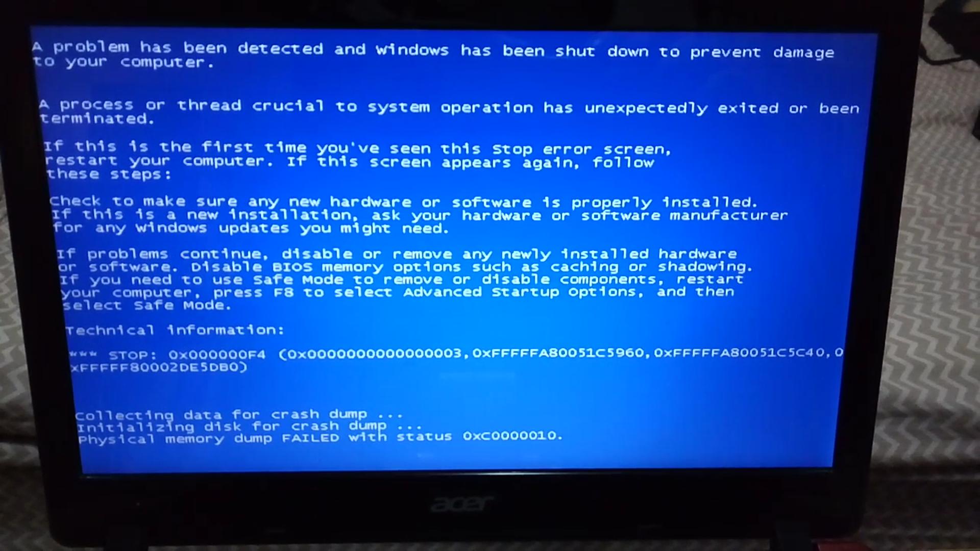 schermo blu, problemi al disco, recupero dati hard disk schermo blu