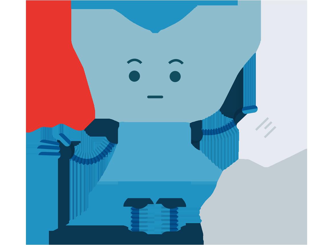 robot, cancellazione sicura
