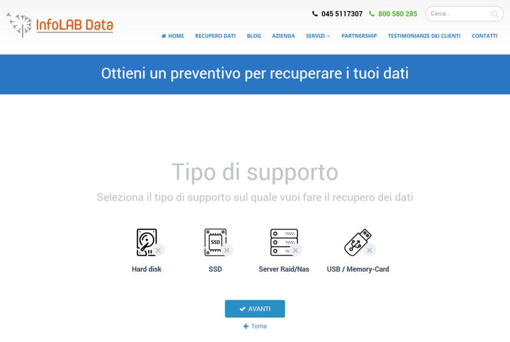 preventivo recupero dati, preventivo recupero dati